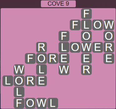 Wordscapes Basin Cove 9 - Level 3257 Answers