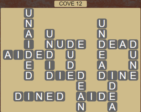 Wordscapes Basin Cove 12 - Level 3260 Answers