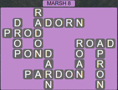 Wordscapes Basin Marsh 8 - Level 3272 Answers
