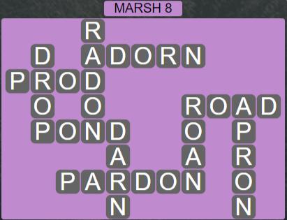 Wordscapes Basin Marsh 8 - Level 3272 Answers