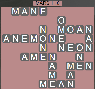 Wordscapes Basin Marsh 10 - Level 3274 Answers