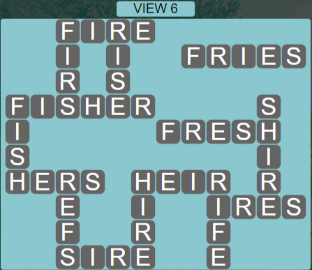Wordscapes View View 6 - Level 3286 Answers