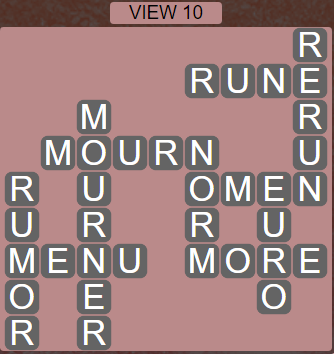 Wordscapes View View 10 - Level 3290 Answers