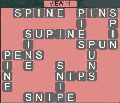 Wordscapes View View 11 - Level 3291 Answers