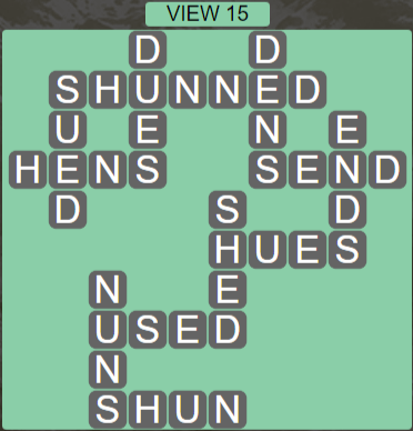 Wordscapes View View 15 - Level 3295 Answers
