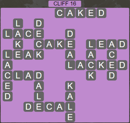 Wordscapes View Cliff 16 - Level 3328 Answers