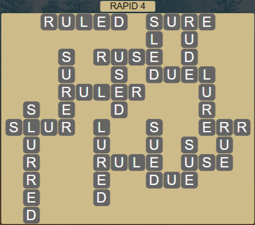 Wordscapes View Rapid 4 - Level 3332 Answers