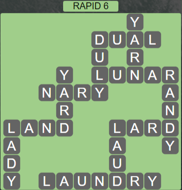 Wordscapes View Rapid 6 - Level 3334 Answers