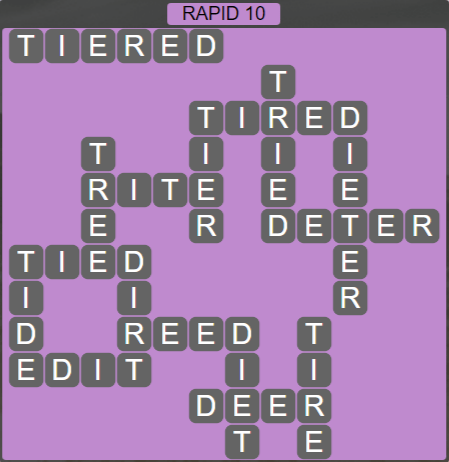 Wordscapes View Rapid 10 - Level 3338 Answers