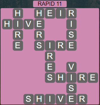 Wordscapes View Rapid 11 - Level 3339 Answers