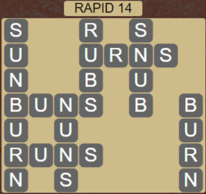 Wordscapes View Rapid 14 - Level 3342 Answers
