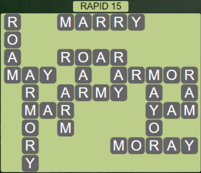 Wordscapes View Rapid 15 - Level 3343 Answers