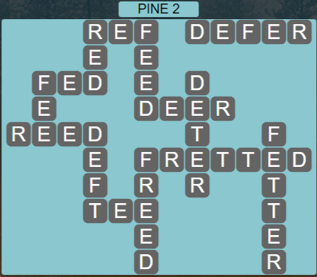 Wordscapes View Pine 2 - Level 3346 Answers