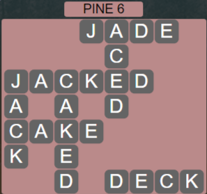 Wordscapes View Pine 6 - Level 3350 Answers