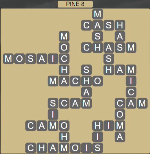 Wordscapes View Pine 8 - Level 3352 Answers