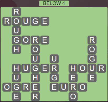 Wordscapes Precipice Below 4 - Level 3364 Answers