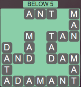 Wordscapes Precipice Below 5 - Level 3365 Answers