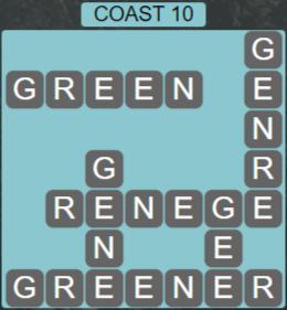 Wordscapes Precipice Coast 10 - Level 3386 Answers