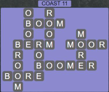 Wordscapes Precipice Coast 11 - Level 3387 Answers