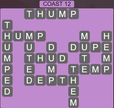Wordscapes Precipice Coast 12 - Level 3388 Answers