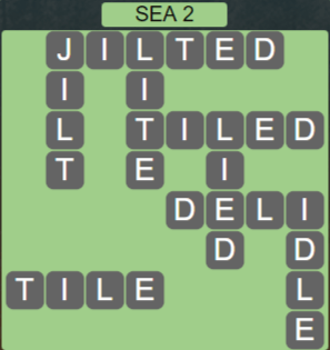 Wordscapes Precipice Sea 2 - Level 3394 Answers