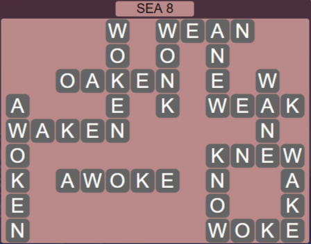 Wordscapes Precipice Sea 8 - Level 3400 Answers