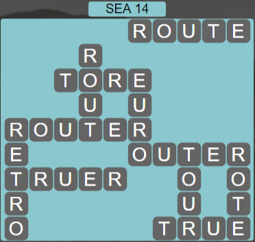 Wordscapes Precipice Sea 14 - Level 3406 Answers