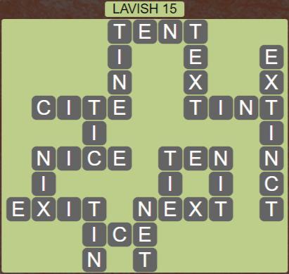 Wordscapes Precipice Lavish 15 - Level 3423 Answers