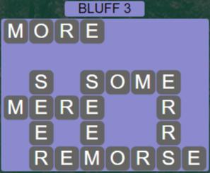 Wordscapes Precipice Bluff 3 - Level 3422 Answers