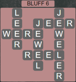 Wordscapes Precipice Bluff 6 - Level 3430 Answers