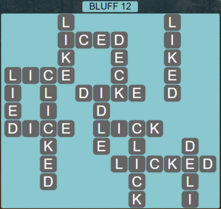 Wordscapes Precipice Bluff 12 - Level 3436 Answers