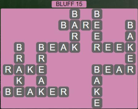 Wordscapes Precipice Bluff 15 - Level 3439 Answers