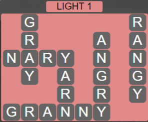 Wordscapes Starlight Light 1 - Level 3441 Answers