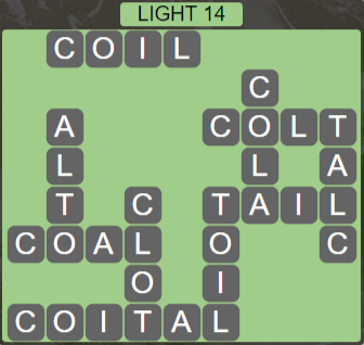 Wordscapes Starlight Light 14 - Level 3454 Answers