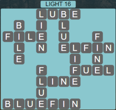Wordscapes Starlight Light 16 - Level 3456 Answers