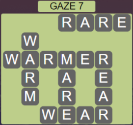 Wordscapes Starlight Gaze 7 - Level 3463 Answers