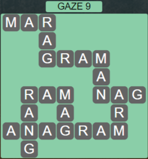 Wordscapes Starlight Gaze 9 - Level 3465 Answers