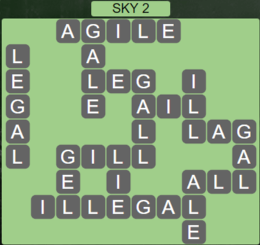 Wordscapes Starlight Sky 2 - Level 3474 Answers