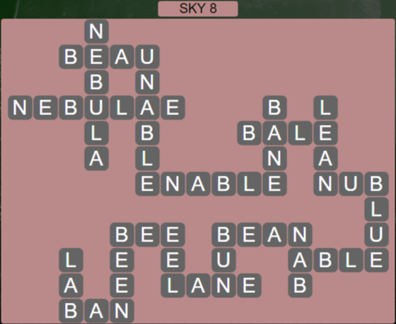Wordscapes Starlight Sky 8 - Level 3480 Answers