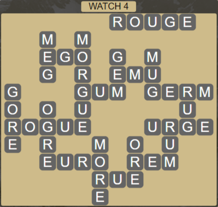 Wordscapes Starlight Watch 4 - Level 3492 Answers