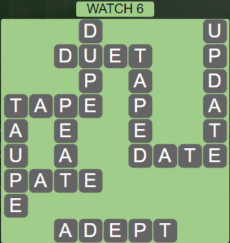 Wordscapes Starlight Watch 6 - Level 3494 Answers