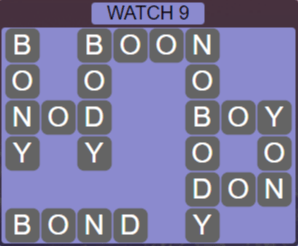 Wordscapes Starlight Watch 9 - Level 3497 Answers