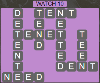 Wordscapes Starlight Watch 10 - Level 3498 Answers