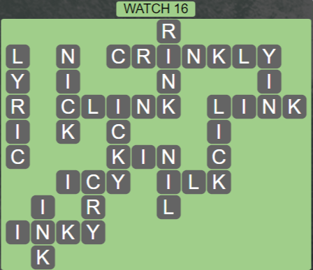 Wordscapes Starlight Watch 16 - Level 3504 Answers