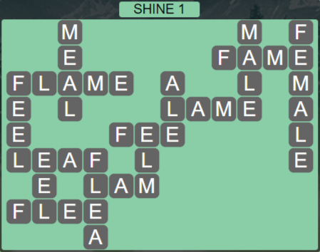 Wordscapes Starlight Shine 1 - Level 3505 Answers