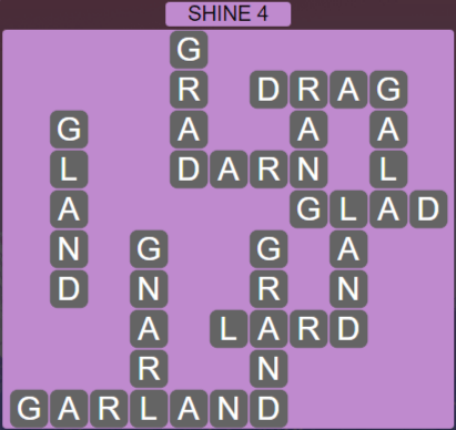 Wordscapes Starlight Shine 4 - Level 3508 Answers