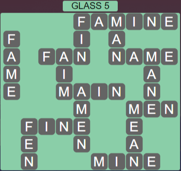 Wordscapes Reflect Glass 5 - Level 3525 Answers