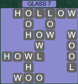 Wordscapes Reflect Glass 7 - Level 3527 Answers
