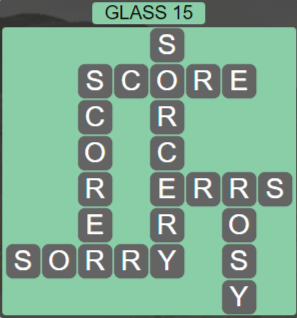 Wordscapes Reflect Glass 15 - Level 3535 Answers