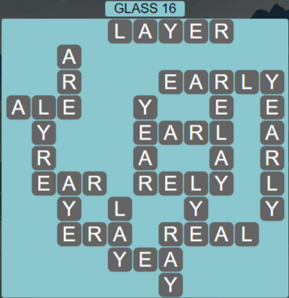 Wordscapes Reflect Glass 16 - Level 3536 Answers